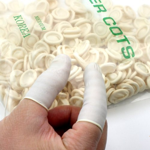 260pcs Natural Disposable Medium Latex Rubber Finger Cots Finger Protectors