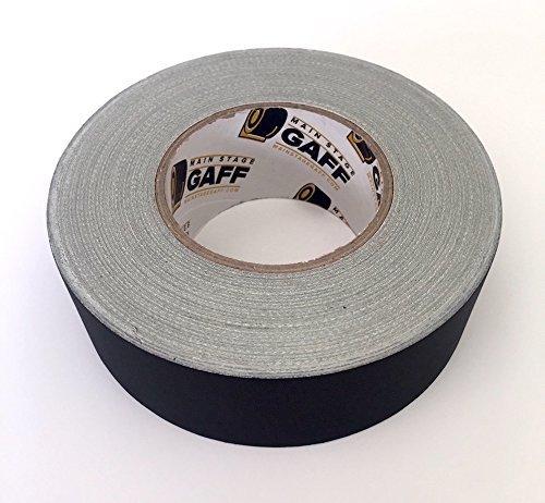 Gaffers Tape - 2 inch by 60 Yard Roll - Black - Bulk Cloth Gaffer Tape, Main Stage Gaff ()