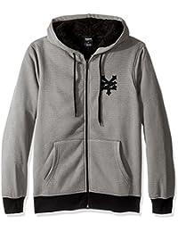 Men's Long Sleeve Sherpa Hoodie Zip-up Sweatshirt