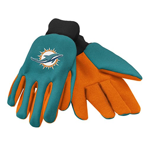 Forever Collectibles 74237 NFL Miami Dolphins Colored Palm Glove from FOCO