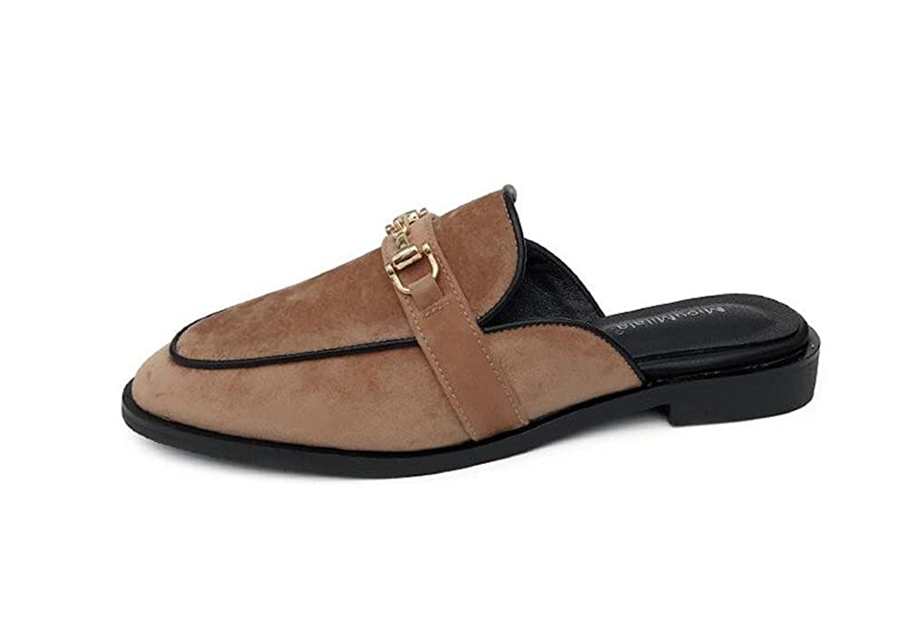 COLOV Womens Florent Leather Open Toe Mules