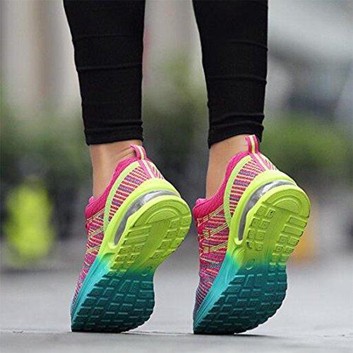 Transpirables Las Las Mujeres Que Que Rosered Zapatillas Las Amortiguan Deportivas Tejidas Las Deporte Vuelan Zapatillas De del Amortiguador Zapatillas De XzztwBq