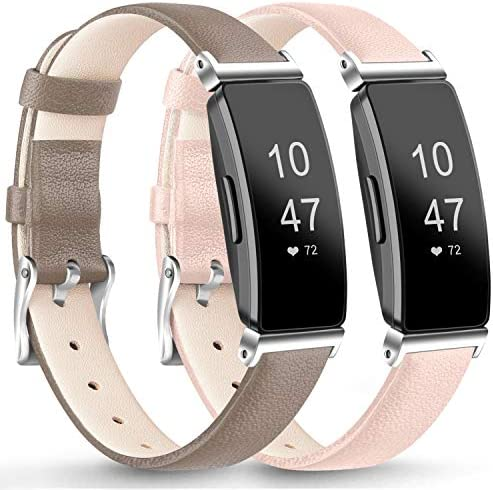 AK Leather Bands CompatibleFitbit Inspire HRInspireAce 2 Fitness Tracker Soft Sport Leather Wristbands Classic Replacement Strap for Women Men / AK Leather Bands CompatibleFitbit Inspire HRInspireAce 2 Fitness Tracker Soft Sport Le...