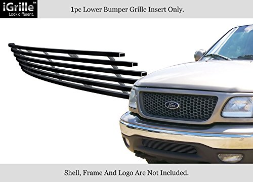APS Fits 1999-2003 Ford F-150 2WD Stainless Steel Black Bumper Billet Grille #F85084J