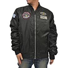 Future Bullet Men's Big & Tall MA-1 Bomber Flight Military Jacket with Patches
