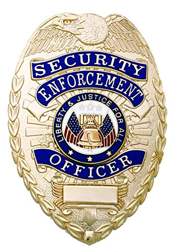 First Class Security Enforcement Officer Gold Shield Badge (Gold Badge)