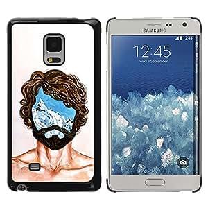"""For Samsung Galaxy Mega 5.8 Case , Retrato Hombre Mente Jefe Vida Pensamientos Símbolo"""" - Diseño Patrón Teléfono Caso Cubierta Case Bumper Duro Protección Case Cover Funda"""