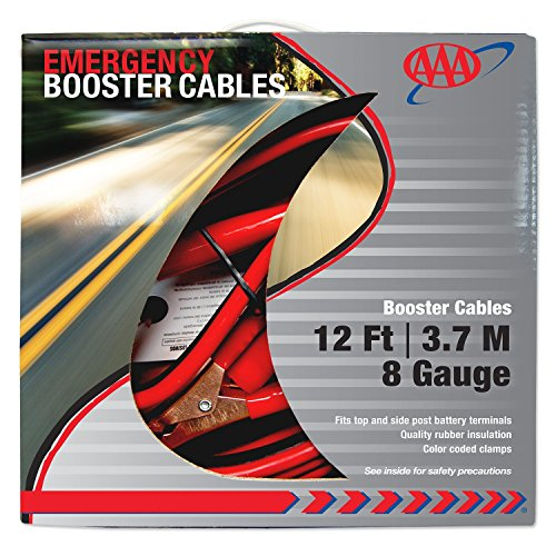 AAA 4324AAA Medium Duty 12' 8 Gauge Booster Cable - 8 Gauge Booster Cable