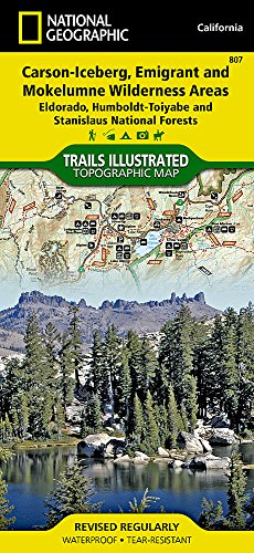 (Carson-Iceberg, Emigrant, and Mokelumne Wilderness Areas [Eldorado, Humboldt-Toiyabe, and Stanislaus National Forests] (National Geographic Trails Illustrated Map) )