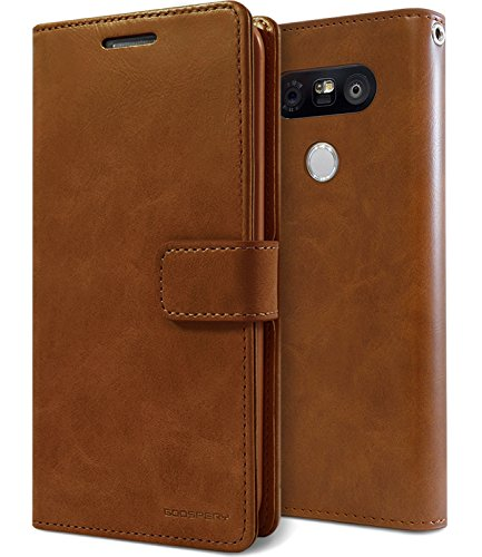 G5 Case, [Wallet Case] for LG G5 [Double Sided Wallet] MERCURY Mansoor Diary [Drop Protection] Soft PU Leather [Extra ID / Credit Card Slots & Cash Pocket] Case - Dark Brown