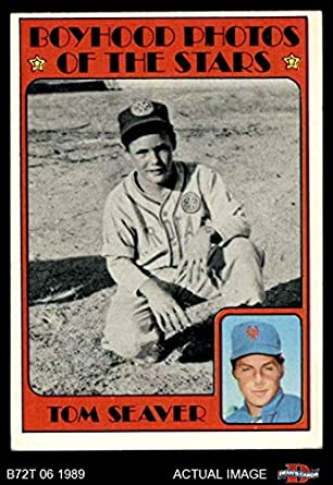 Amazoncom 1972 Topps 347 Boyhood Photo Tom Seaver New
