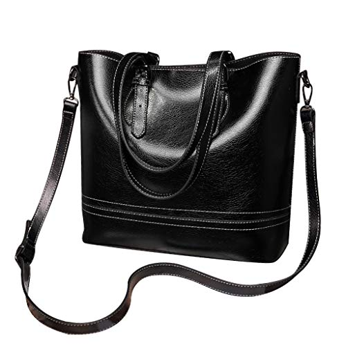 Kangma Ladies New Versatile Handbag Big Capacity Simple Messenger Bag Zipper PU Leather Shoulder Bags