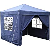Airwave 2.5x2.5mtr Pop Up Waterproof Gazebo in Blue with 2 WindBars and 4 Leg Weight Bags