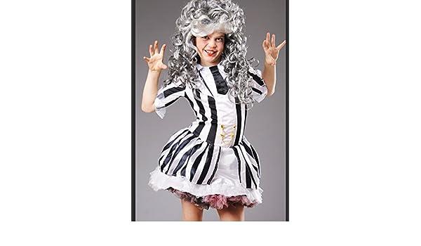Beetlejuice niño traje de niña con peluca Large 8-10 years: Amazon.es: Juguetes y juegos