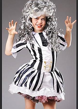 Beetlejuice niño traje de niña con peluca Large 8-10 years