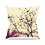 Kess InHouse Sylvia Coomes Darkness Into Light Green Nature Outdoor Throw Pillow, 16'' x 16''