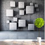 hwhz Customized Any Size Modern 3D Stereoscopic Geometry Wall Paper Office Living Room Bedroom Background 3D Mural Wallpaper Roll-350X250Cm