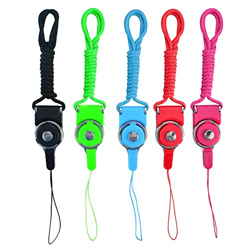 Drive Ipod - baotongle 5 PCS Detachable Neck Straps Band Lanyard for Cell Phone Camera IPod Mp3 Mp4 USB Flash Drive ID Card Badge Other Electronic Devices