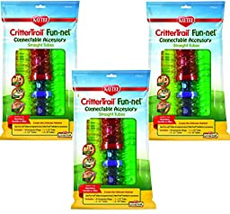 (3 Packages) CritterTrail Fun-nels Tubes - Straight Tube Value Packs