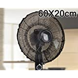 60 x 20 cm High Quality Black Summer Washable Dustproof Safety Fan Protection Dust Cover Net
