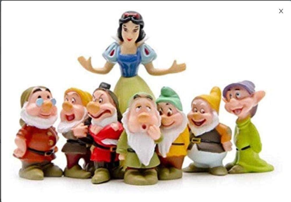 Nobranded Figuras de Juguete de decoración de Blancanieves y los Siete enanitos: Amazon.es: Hogar