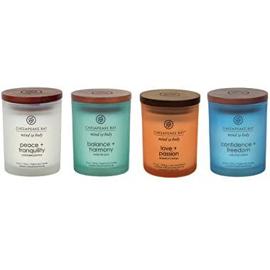 Chesapeake Bay Candle Mind & Body Small Scented Candle Gift Set #1 (4-Piece)