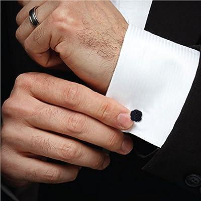 BodyJ4You Silk Knot Cufflinks 6-12 Pairs Men Button Shirt Unique Vintage Jewelry Set Gift Box