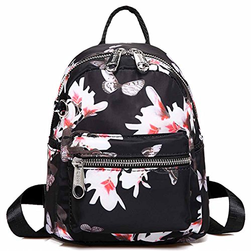 Cute Shoulder Three Handbag Women and Stlye Backpck backpacks Waterproof For Girls Print HADM Nylon Backping 4 Small zHqFnw