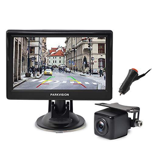 """PARKVISION achteruitrijcamera set, AHD achteruitrijcamera met 5 """" IPS monitor 720P, IP68 waterdichte nachtzicht…"""