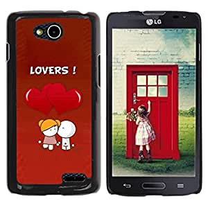 LECELL -- Funda protectora / Cubierta / Piel For LG OPTIMUS L90 / D415 -- Cute Lovers Coupkle --