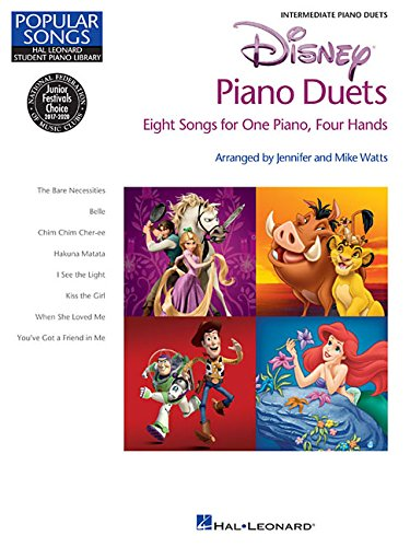 Disney Piano Duets - Popular Songs Series - 8 Duets (1 Piano/4 Hands) Intermediate (Hal Leonard Student Piano Library)
