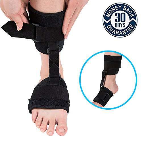 Soft AFO Brace,Nicehel Dorsal Night Splint Foot Drop Orthotic Brace Soft Ankle Foot Orthosis (AFO) for Foot Drop by Nicehel