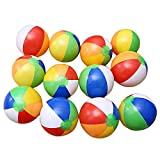 EDTara Inflatable Beach Balls Pool for Party Toys Birthday Favors 6 Color 12 PCs