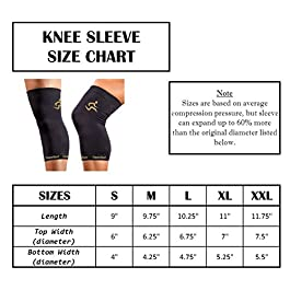 CopperSport Copper Compression Knee Sleeve Support – Suitable for Athletics, Tennis, Golf, Basketball, Sports, Weightlifting, Joint Pain Relief, Injury Recovery (Single Sleeve)