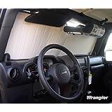 Sunshade for Jeep Wrangler w/JK Body 2007 2008 2009 2010 2011 2012 2013 2014 2015 2016 2017 2018 Custom-fit Sunshade #1141