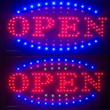 Enshey 3 Color Open Store Sign High Visible LED Light Flash Business Sign Windows Sign Shop Open Sign Chain Advertisement Board Electric Display Sign for Business, Walls, Window, Shop, Bar, Hotel