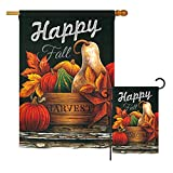 Ornament Collection FS191042 Autumn Happy Fall Fall Harvest & Autumn Impressions Decorative Vertical House 28″ X 40″ Garden 13″ X 18.5″ Flags Set Printed in USA Multi-Color Review