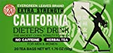 1 BOX CALIFORNIA DIETERS' DRINK EXTRA STRENGTH TEA 1.76 OZ by Evergreen leaves