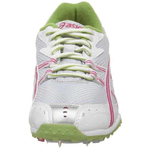 Asics Womens Iper-rocketgirl Xc Track & Field Scarpa Bianca / Lampone / Lime