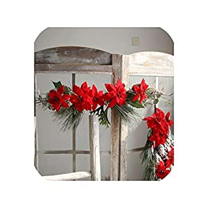 loveinfinite 1PC Artificial Flowers Fake Leaf Wedding Party Home Decoration Christmas Party Home Decor DIY Wall Sticker Wedding Decoration 102