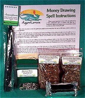 Ready To Cast Money Drawing Ritual Spell Kit Includes Instructions and Tools