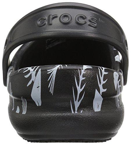 crocs Unisex-Erwachsene Bistro Graphic Clog Schwarz (Black/pearl White)