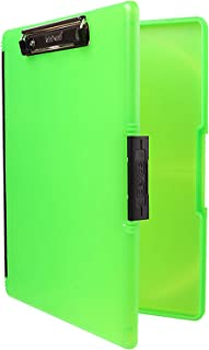 product image for Dexas 3517-807 Slimcase 2 Storage Clipboard with Side Opening, Neon Green