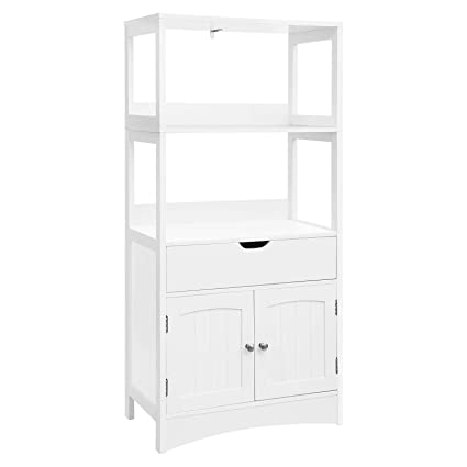 amazon com vasagle bathroom storage cabinet with drawer 2 open rh amazon com tall bathroom storage cabinet amazon