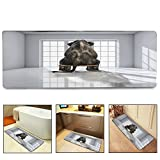 QIYI Bath Mat Rug Super Soft Non-Slip Machine Washable Quickly Drying Antibacterial,For Office Door Mat,Kitchen Dining Living Hallway Bathroom 16''x48''-A sitting elephant