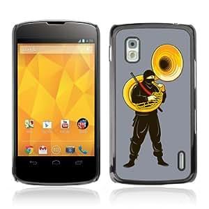 Designer Depo Hard Protection Case for LG Nexus 4 E960 / Silent Ninja