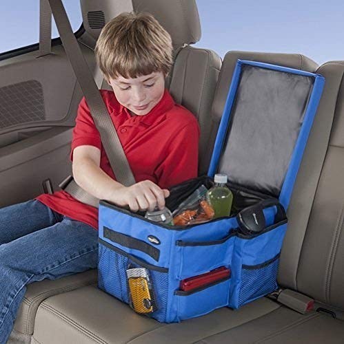 (Car Organizer for Back Seat & Front Seat - For Adults and Kids - Insulated Cooler - Featuring Compartments for Toys, News Papers, Maps, Books, Documents, Drinks, Snacks, iPads etc.)