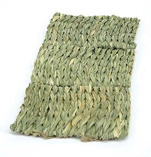 - Ware Manufacturing Natural Handwoven Grass Multi-Use Pet Mat for Small Animals