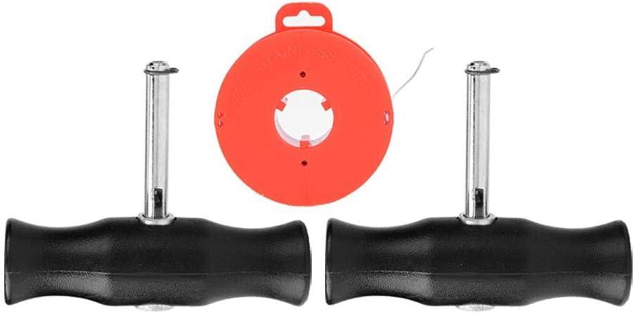 Aramox Outil denl/èvement de pare-brise outil denl/èvement de pare-brise auto de voiture fil de coupe de verre et poign/ées
