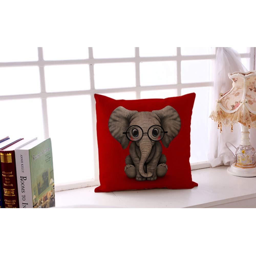 Amazon.com: JUNMAO - Funda de cojín con diseño de elefante ...
